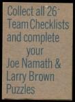 1973 Topps  Checklist   Falcons Back Thumbnail