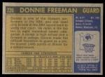 1971 Topps #220  Donnie Freeman  Back Thumbnail