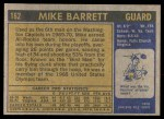 1971 Topps #162  Mike Barrett  Back Thumbnail
