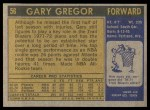 1971 Topps #56  Gary Gregor   Back Thumbnail