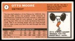 1970 Topps #9  Otto Moore   Back Thumbnail