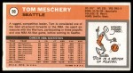 1970 Topps #99  Tom Meschery   Back Thumbnail