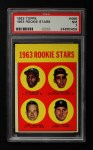 1963 Topps #466   -  Bill Freehan / Tony Martinez / Nate Oliver / Jerry Robinson Rookie Stars  Front Thumbnail