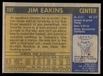 1971 Topps #197  Jim Eakins  Back Thumbnail