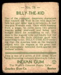 1933 Goudey Indian Gum #78  Billy the Kid   Back Thumbnail