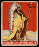 1933 Goudey Indian Gum #148   Chief of the Sioux Tribe  Front Thumbnail
