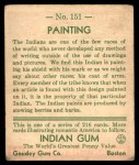 1933 Goudey Indian Gum #151   Painting  Back Thumbnail
