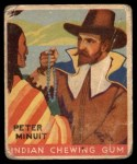 1933 Goudey Indian Gum #72  Peter Minuit   Front Thumbnail