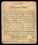 1933 Goudey Indian Gum #86   Acoma Tribe  Back Thumbnail