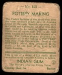 1933 Goudey Indian Gum #153   Pottery Making  Back Thumbnail