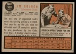 1962 Topps #568  Jim Golden  Back Thumbnail