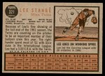 1962 Topps #321  Lee Stange  Back Thumbnail