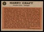1962 Topps #12  Harry Craft  Back Thumbnail