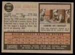 1962 Topps #484  Dick Schofield  Back Thumbnail