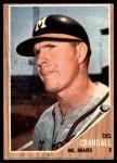 1962 Topps #443  Del Crandall  Front Thumbnail