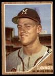 1962 Topps #63  Tony Cloninger  Front Thumbnail