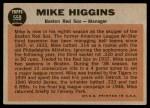 1962 Topps #559  Mike Higgins  Back Thumbnail
