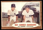 1962 Topps #163 NRM  -  Billy Gardner / Clete Boyer Hot Corner Guardians Front Thumbnail