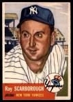 1953 Topps #213  Ray Scarborough  Front Thumbnail