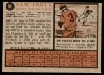 1962 Topps #92  Sam Jones  Back Thumbnail