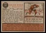 1962 Topps #301  Galen Cisco  Back Thumbnail