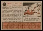 1962 Topps #77  Tony Taylor  Back Thumbnail