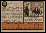 1962 Topps #220  Roy Sievers  Back Thumbnail