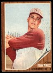 1962 Topps #302  Johnny Edwards  Front Thumbnail