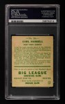 1933 Goudey #234  Carl Hubbell  Back Thumbnail