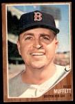 1962 Topps #336  Billy Muffett  Front Thumbnail