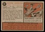 1962 Topps #82  Deron Johnson  Back Thumbnail