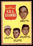 1962 Topps #56   -  Warren Spahn / Jim O'Toole / Curt Simmons / Mike McCormick NL ERA Leaders Front Thumbnail