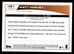 2013 Topps Update #1  Matt Harvey  Back Thumbnail
