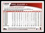 2013 Topps Update #95  Eric Chavez  Back Thumbnail