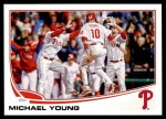 2013 Topps Update #90  Michael Young  Front Thumbnail