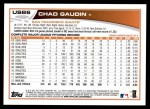 2013 Topps Update #86  Chad Gaudin  Back Thumbnail