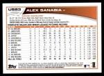 2013 Topps Update #83  Alex Sanabia  Back Thumbnail