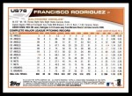 2013 Topps Update #78  Francisco Rodriguez  Back Thumbnail