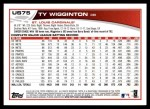 2013 Topps Update #75  Ty Wigginton  Back Thumbnail