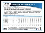 2013 Topps Update #62  Carlos Villanueva  Back Thumbnail