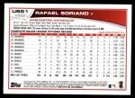 2013 Topps Update #61  Rafael Soriano  Back Thumbnail