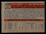 1957 Topps #364  Cal McLish  Back Thumbnail