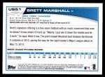 2013 Topps Update #51  Brett Marshall  Back Thumbnail