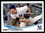 2013 Topps Update #51  Brett Marshall  Front Thumbnail