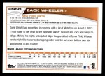 2013 Topps Update #50  Zack Wheeler  Back Thumbnail