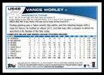 2013 Topps Update #48  Vance Worley  Back Thumbnail