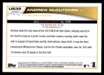 2013 Topps Update #35   -  Andrew McCutchen All-Star Back Thumbnail