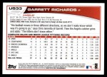 2013 Topps Update #33  Garrett Richards  Back Thumbnail