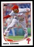 2013 Topps Update #30  Mike Adams  Front Thumbnail