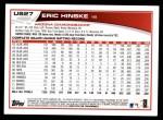 2013 Topps Update #27  Eric Hinske  Back Thumbnail